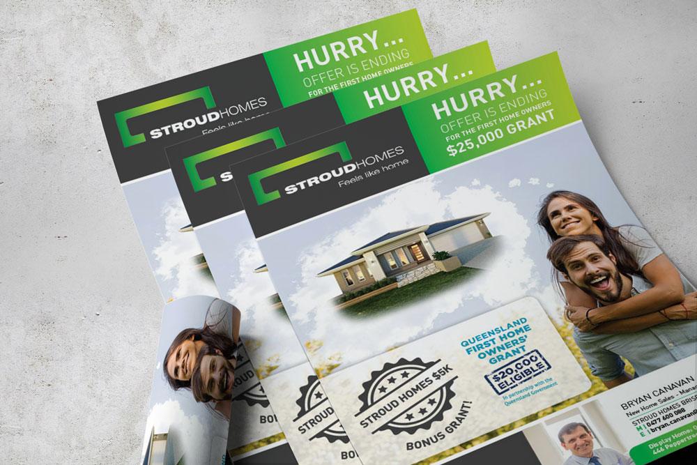 Stroud Homes flyer design