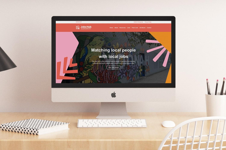 Jobs Hub website design